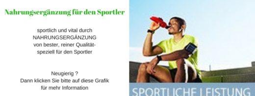 Nahrungsergänzung für Sportler